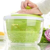 Fashion Salad Spinner with Pouring Spout 5L Large Capacity Vegetables Dryer Sieve Strainer Colander Basket Tools Hogard JU07