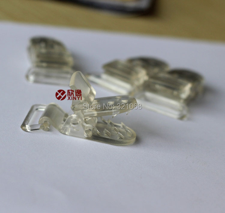 10pc Mini Black Plastic Suspender Bib Pacifier Dummy Teething Clips Buckles KAM