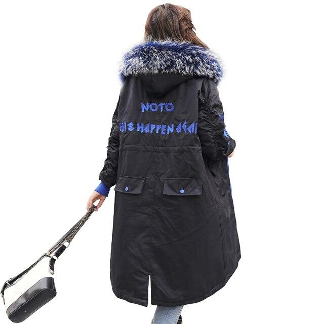Mulheres Casaco de Inverno longo Parkas Grande Gola De Pele Jaqueta Feminina Outwear Quente Fino Casaco Jaqueta de Algodão Acolchoado Roupas Femininas