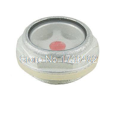 27mm Threaded Metal Case Oil Level Sight Glass Window Silver Tone 1 2 bsp 150mm lube devices brass oil level gauge sight glass for lathes
