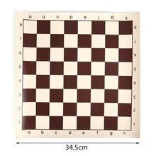 34,5/42/50,05 см виниловые турнирные шахматы доска для детских образовательных игр магнитная доска для игры в шахматы