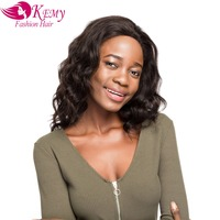 KEMY 150 Density Lace Frontal Human Hair Wigs Natural Lose Wave Brazilian Remy Hair 20 Inch