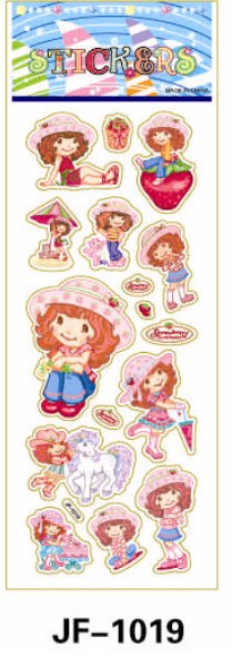 20 Sheets Combo Deal, Free shipping TY0037 Strawberry Shortcake Stickers, Girl Soft Vinyl Stickers, Unicorn