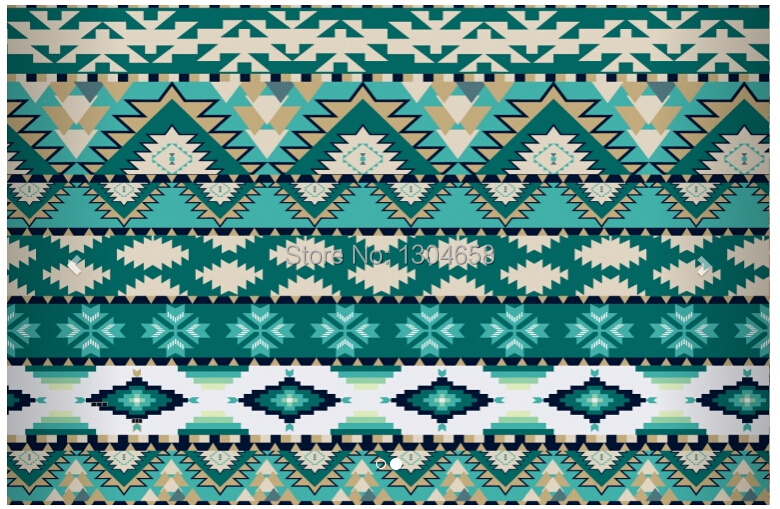 Aliexpress Com Buy Large Custom Mural Wallpapers Living: Green Aztec Wallpaper