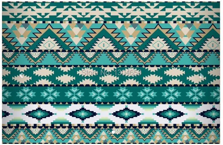 Aliexpress Com Buy Large Custom Mural Wallpapers Living: Green Aztec Wallpaper