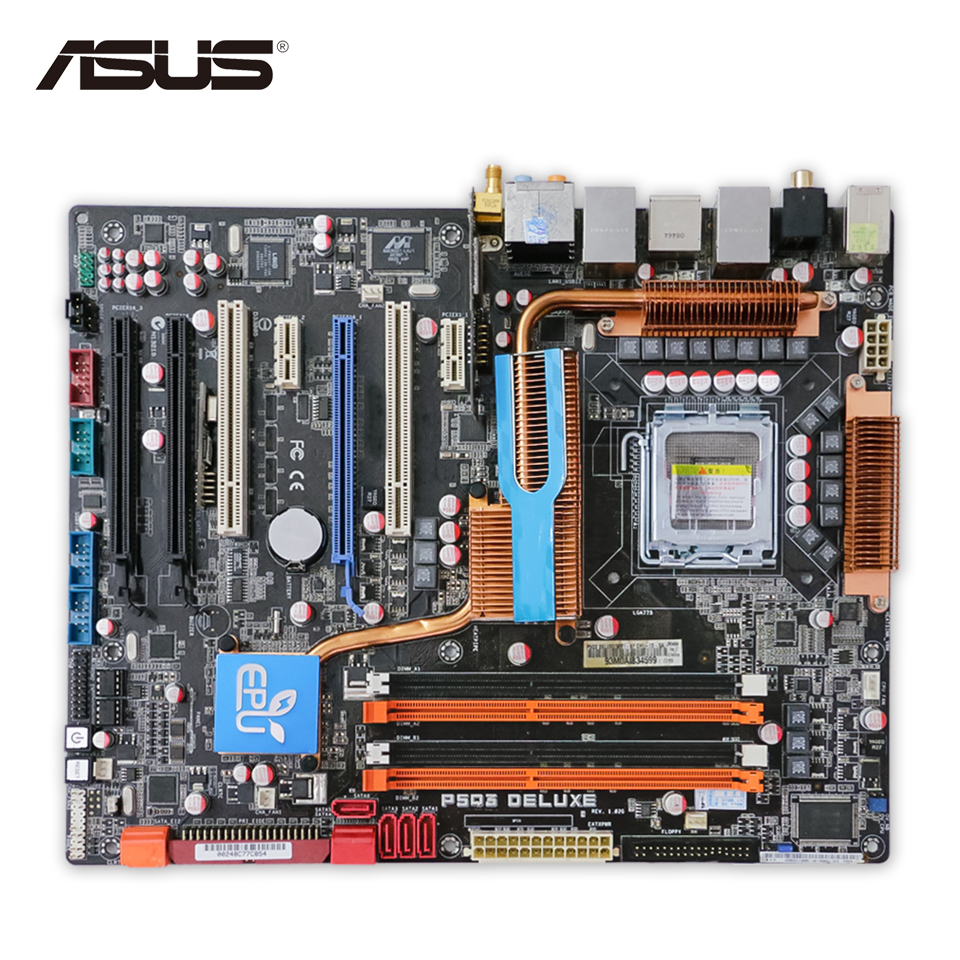 все цены на Asus P5Q3 DELUXE/WIFI-AP Desktop Motherboard P5Q3 Deluxe WiFi-AP P45 Socket LGA 775 DDR3 16G ATX Second-hand High Quality онлайн