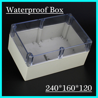 240*160*120mm ip65 waterproof enclosure with transparent cover