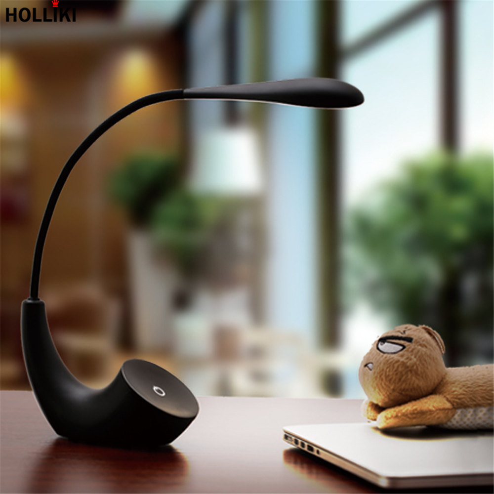 LED Touch On/off Switch Desk Table Lamp 3 Level Brightness Minimalist Student Reading Dimmer USB Rechargeable Foldable Lamps icoco led touch dimmer desk lamp usb rechargeable student study reading lamp foldable led desk lamp with calendar