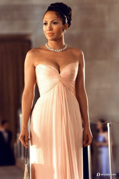 Best Selling Jennifer Lopez Pearl Pink dress maid in manhattan Long Celebrity Dresses Custom Made Cheap