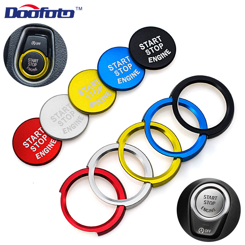Doofoto Car Styling Engine Start Stop Button Cover For Bmw E46 E60 E39 F20 F21 F30 F31 F10 Decoration Sticker witch Accessories image