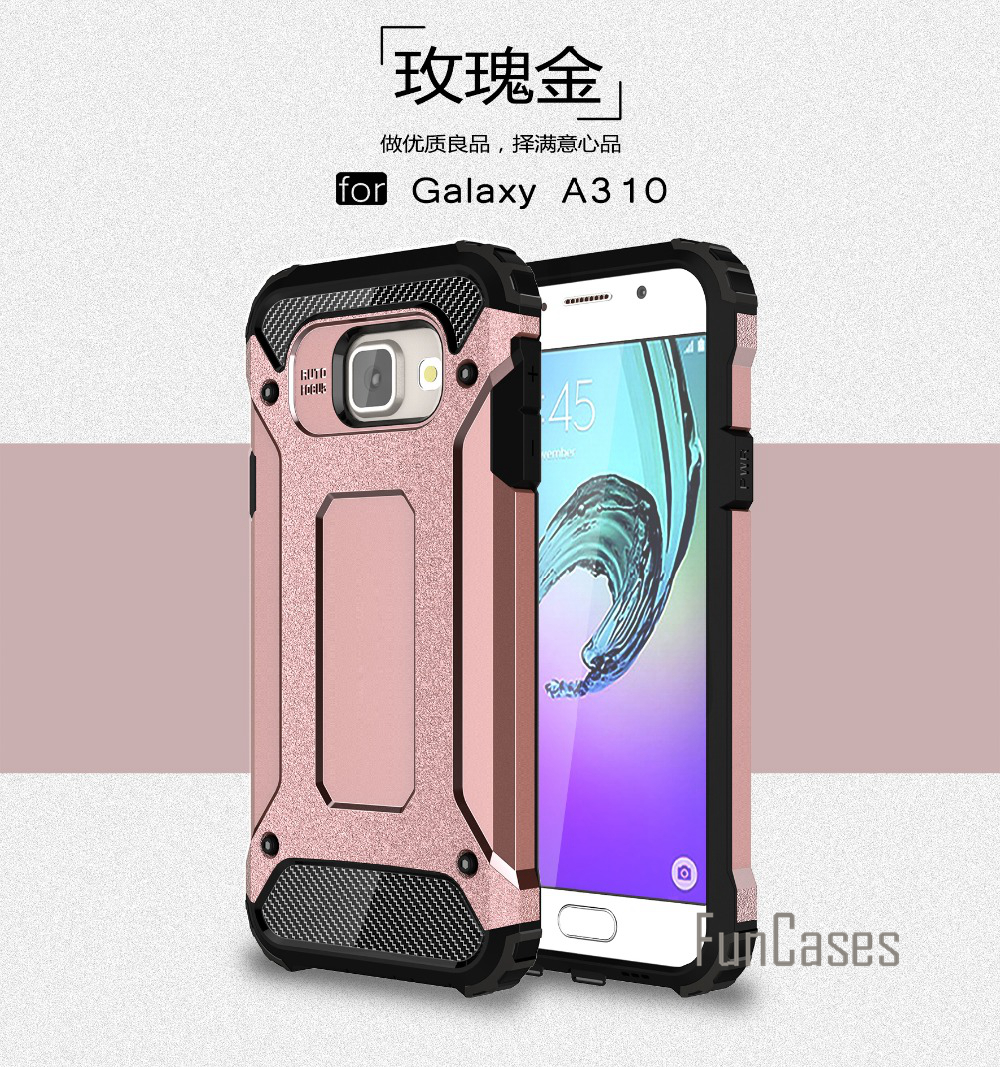 Anti-Shock Case for Samsung Galaxy A3 2016 Case A310 A310F A3100 4.7 inch Rubber Hard PC Case for Samsung A3 2016 Case Cover