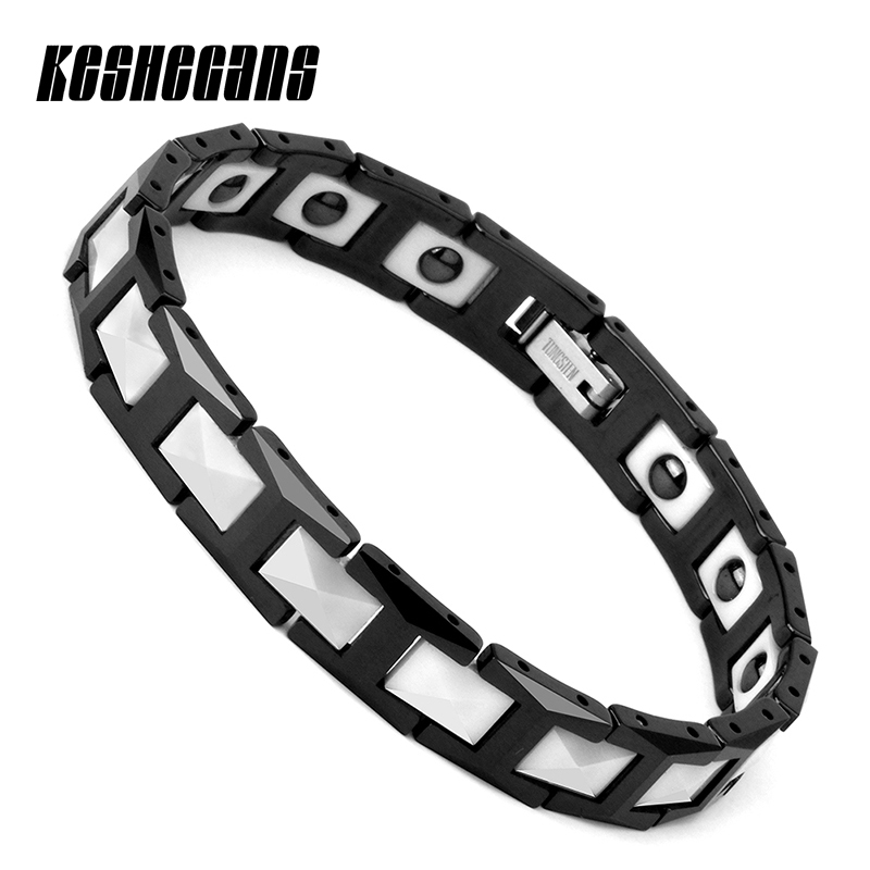 New Healthy Energy Magnetic Ion Germanium Bracelet Black And White ...