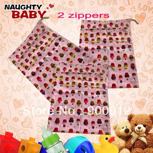 Nuevo diseño impreso bebé reutilizable pañal de tela bolsas húmedas colección de pañales bolsa 22 piezas bolsas de bebés