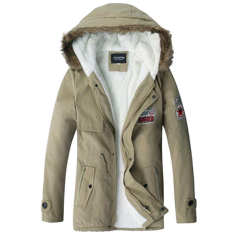 2018 модные Для мужчин куртка военно-тактические бархат парки зима теплая флисовая куртка с капюшоном куртки Hombre Для мужчин Зимняя одежда