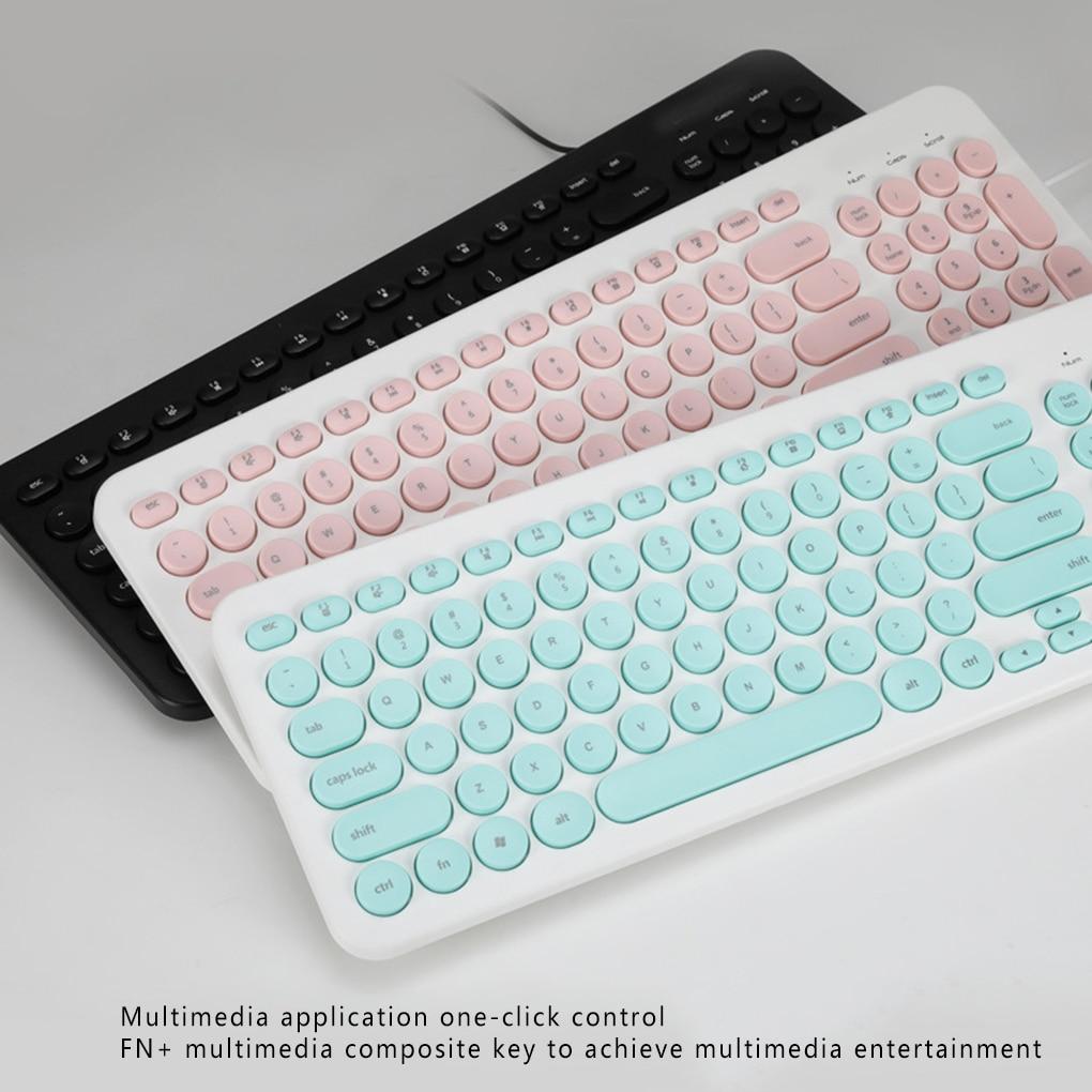 Новая клавиатура D520 96 клавиш USB Проводная круглая клавиатура для домашнего офиса компьютера ноутбука брызгозащищенная клавиатура Клавиатуры      АлиЭкспресс