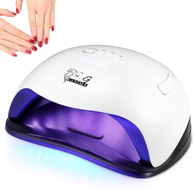 Gustala SUNX5 UV /LED 54W Nail Dryer Gel Polish Smart Curing Lamp 36 LED Lamp Beads for All Types Gel with 10s/30s/60s/99s Timer noq smart sensor nail lamp with battery 48w uv led nail light dryer for curing all type gel polish with timer button 10s 30s 60s