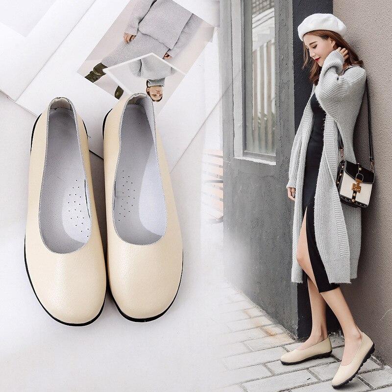 Souples Lacets De marron Causalité Cuir Dame Mode jaune noir Beige Fond Mocassins En Plat Sans Femme Femmes Chaussures 1OYqwRxBp