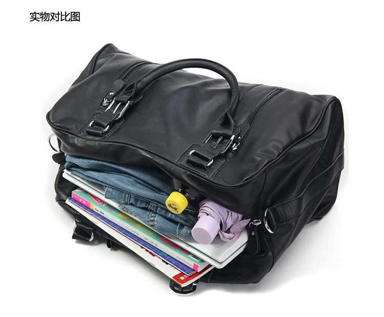 Fashion Men Genuine leather Travel Bags Men Luggage Bag real Leather Weekend bag Duffle Bag Large Overnight Tote Handbag Big