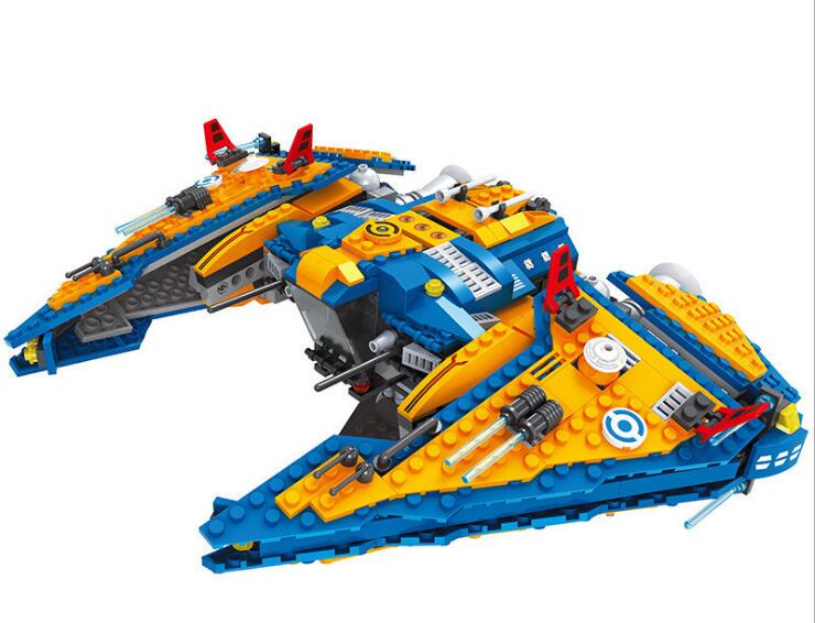 Model building kits compatible with lego STAR WARS Outer Space Space Ship 818 Pcs blocks Educational model building toys hobbies цена