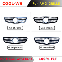 For Mercedes Benz W204 C CLASS GTR Grille Front Bumper Grill for AMG C63 C180 C200 C300 C230 C280 C350 2007-2014