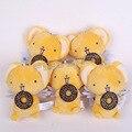 Lindo Card Captor Sakura Kero Mini Juguetes de Peluche con llavero Muñecos de Peluche Suave Felpa Colgante Juguetes 11 cm 10 unids/lote