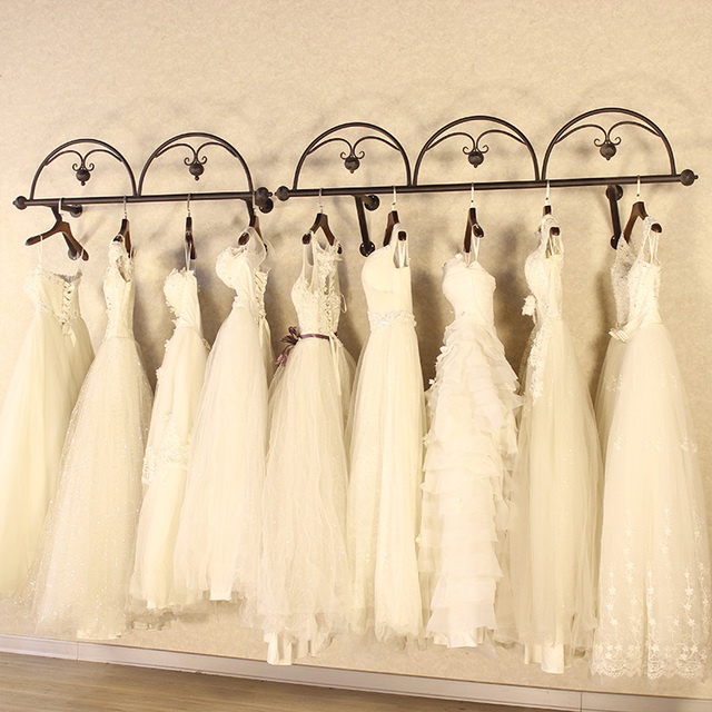 hangers Complete wedding dress clothing Display shelf / Clothes shop ...