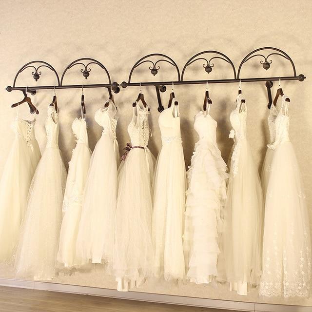 Hangers complete wedding dress clothing display shelf for Wedding dress display at home