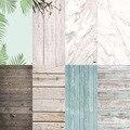 Foto Studio 58X86cm 2 seiten 80 farben PVC Fotografie Holz Druck Kulissen Wasserdichte Marmor Hintergrund für Kamera Foto-in Hintergrund aus Verbraucherelektronik bei