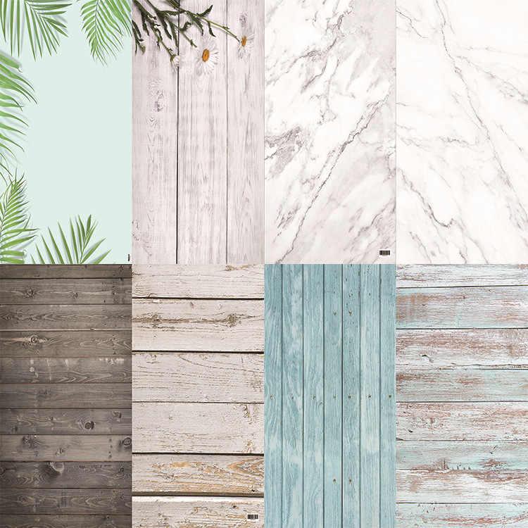 Studio Photo 58X86cm 2 côtés 80 couleurs PVC photographie bois impression décors fond de marbre étanche pour appareil Photo