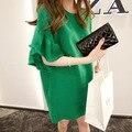 Mulheres grávidas verão super fofo vestido de manga chifre legal quando o flash Vestido De Linho vestidos gravidez roupas para mulheres