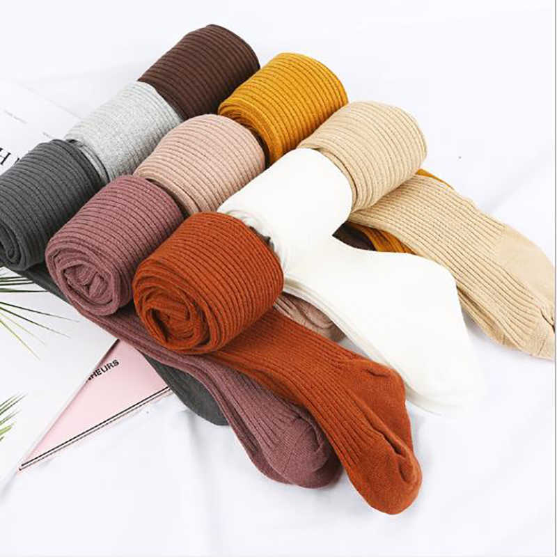 Toddler Girls Tights For Kids Pantyhose 0-4 Years Baby Warm Solid Soft Stockings Autumn Winter Fashion New Hot Sale Tight Cotton