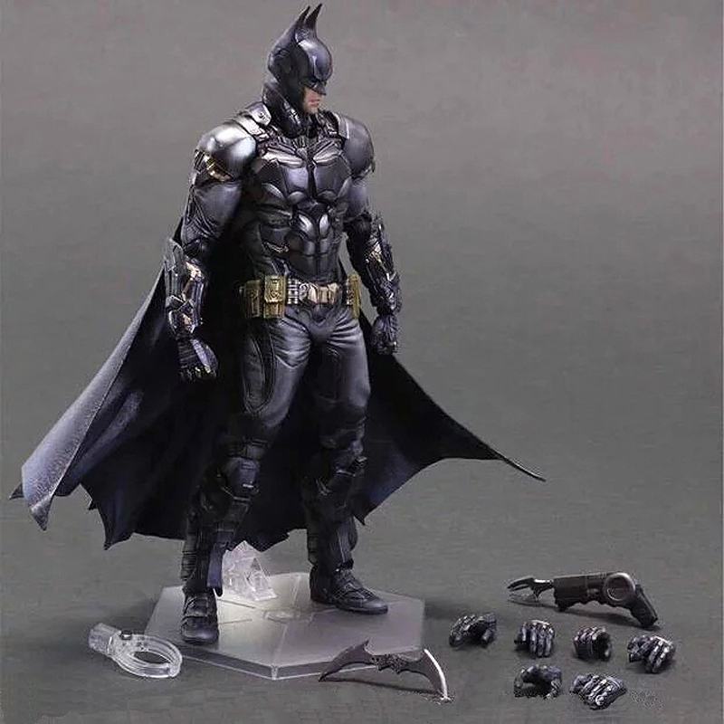 25cm Play Arts Kai Movable Figurine Batman Dawn of Justice PVC Action Figure Toy Doll Kids Adult Collection Model Gift xinduplan dc comics play arts kai justice league batman reloading dawn justice action figure toys 25cm collection model 0637