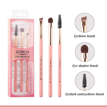 3pcs/set Eye Makeup Brushes Pink  Portable Rayon Brushes For Women Beauty Make up Brush Cosmetics Tool High Quality недорого
