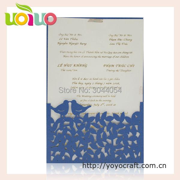 Fashionable indian hindu laser cut wedding invitation cards love