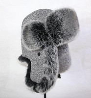 Free shipping Autumn and winter men women's thicken thermal woolen faux fur hat skiing motorcycle flying hat warm lei feng cap