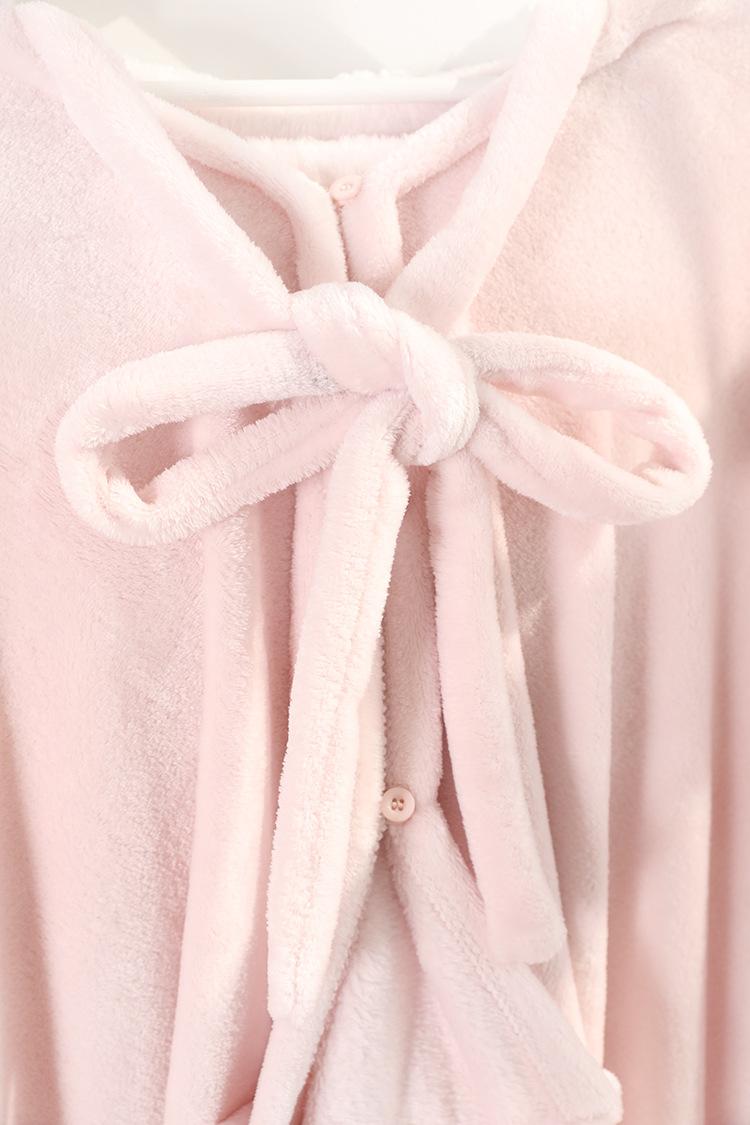 Cute Pink Comfy Blanket Sweatshirt Winter Warm Adults and Children Rabbit Ear Hooded Fleece Blanket Sleepwear Huge Bed Blankets 163