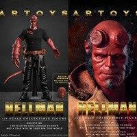 1/6 весы Hellman Hell Boy Anung Un Rama мужской человек мальчик 12' действие коллекции фигурок игрушечные лошадки подарки полный набор фигурку W 3 головки