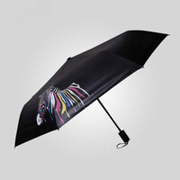 Magic Man Umbrella Discoloration Color Change Parasol Sun Rain Three Folding Umbrella