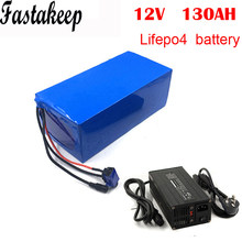 Customized Deep Cycle 12.8V 130Ah Lifepo4 Batteries pack for RV / Camper / car or Boat with 5A charger(China)