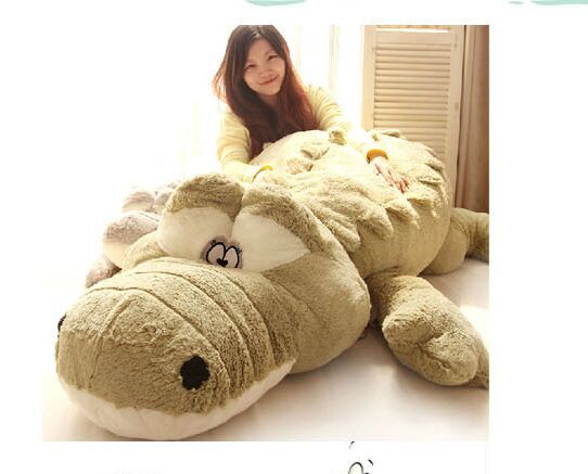 stuffed fillings toy huge 220cm cartoon Crocodile plush toy Crocodile soft sleeping pillow,surprised birthday gift h2984 stuffed plush toy huge 95cm prone panda doll soft throw pillow birthday gift b0487