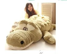 stuffed fillings toy huge 220cm cartoon Crocodile plush toy Crocodile soft sleeping pillow,surprised birthday gift h2984