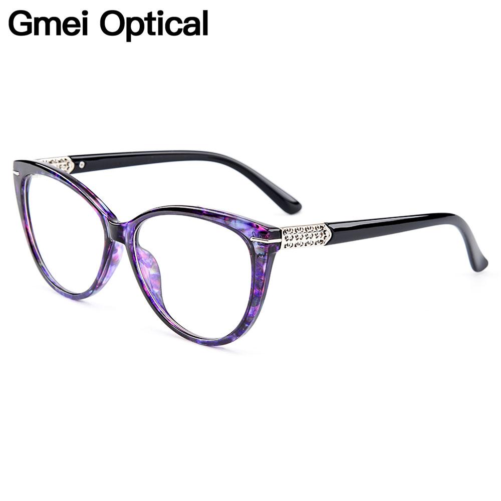 Gmei Optical Urltra-Light TR90 Cat Eye Style Women Optical Glasses Frames Optic Glasses Frame For Women Myopia Spectacles M1697