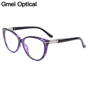 Gmei Optical Urltra-Light TR90 Cat Eye Style Women Optical Glasses Frames Optic Glasses Frame For Women Myopia Spectacles M1697(China)
