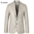 E-artista Linho Blazers Jaquetas Casuais dos homens de Negócios Terno Slim Fit Casacos Sobretudos Outwear para Todas As Estações Mais 5XL tamanho X04
