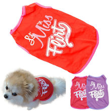 My House Creative New Cat Dog Puppy Pet Clothes Red/Violet T-Shirts Vest Summer Apparel drop shipping Sep6(China)
