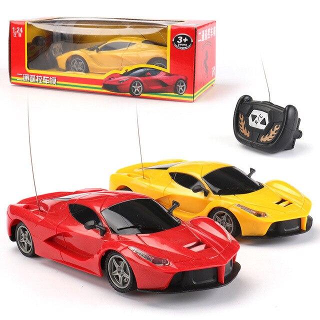 18 cm שלט רחוק מכונית ילדי חיצוני משחק 1:24 בקנה מידה סופר רכב רכב דגם רדיו בקרת 2 ערוצים מכונית תינוק צעצועים