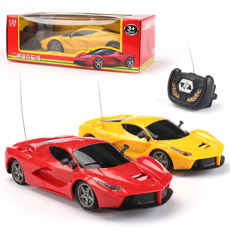 18cm Remote Control Car Children Outdoor Playing 1:24 Scale Super Car Automobile Model Radio Control 2 Channels Car Baby Toys