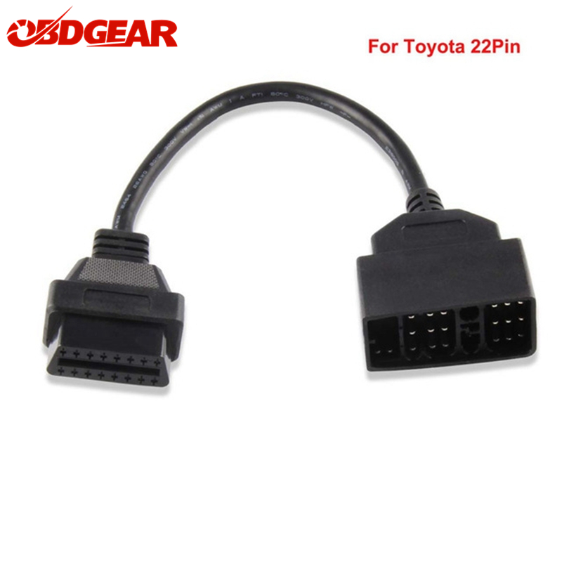 Top OBD2 Cable Adapter for <font><b>Toyota</b></font> <font><b>22Pin</b></font> to 16Pin OBD OBD2 Diagnostic Connector 22 Pin to 16 Pin For <font><b>Toyota</b></font> <font><b>22PIN</b></font> ODBII Cable image