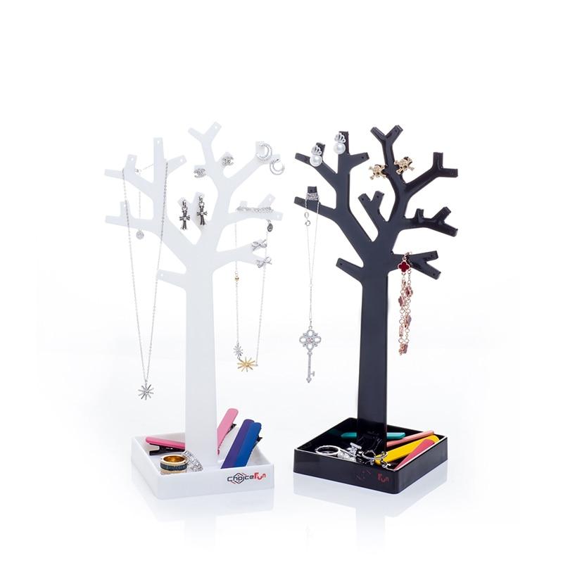 1 Stück Modeschmuck Halskette Ohrringe Display Baum Form Speicher-halter und Racks Schlafzimmer...
