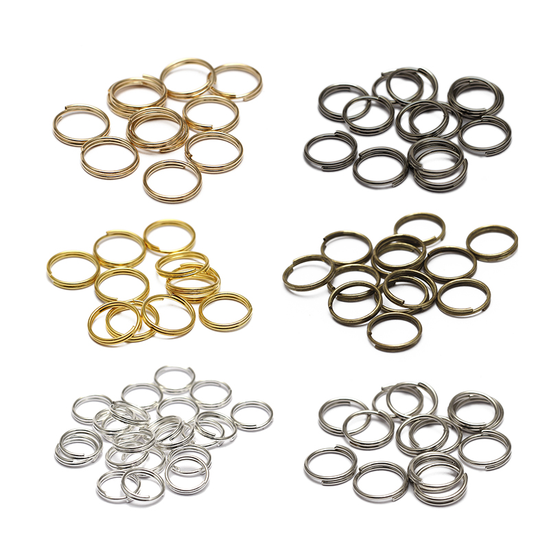 3//8/'/' 10mm Nickel Double Loop Split Open Jump Key Rings Connector O Rings